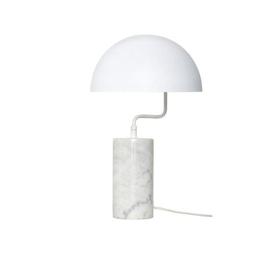 Hübsch - Bordlampe Hvid Metal/Marmor