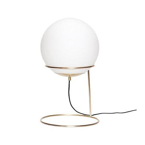 Hübsch - Gulvlampe, messing/hvid, metal/glas