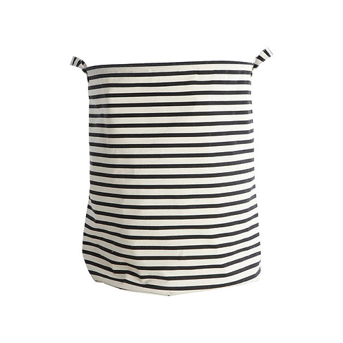 House Doctor - Vasketøjspose, Stripes, Sort