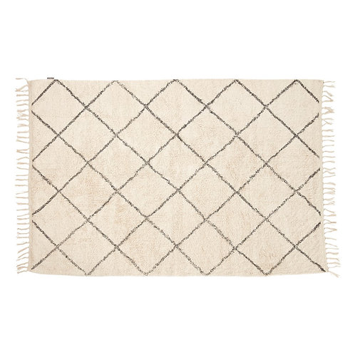 Hübsch - gulvtæppe i bomuld