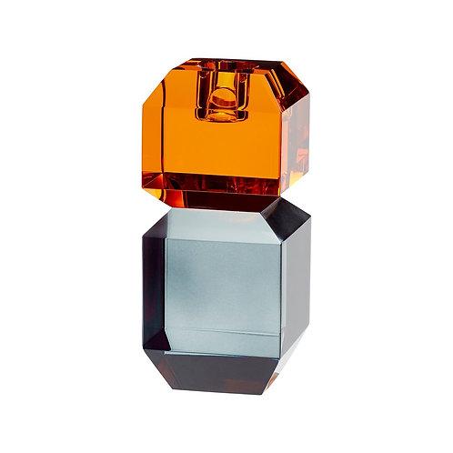 Hübsch - Lysestage, glas, amber/røget