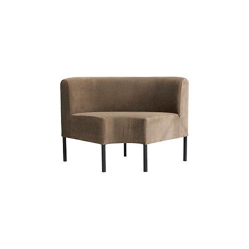 House Doctor - Sofa, feast, corner seater, sand, siddehøjde 48 cm
