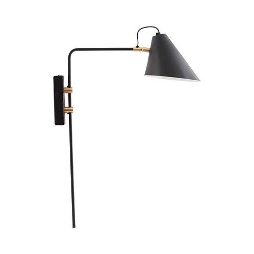House Doctor - Væglampe, club, sort/hvid
