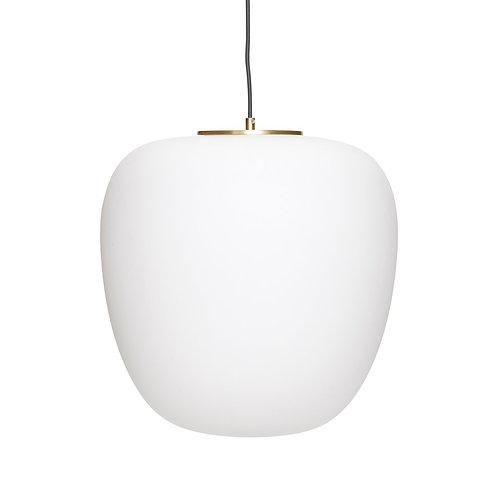 Hübsch - Lampe, glas, hvid