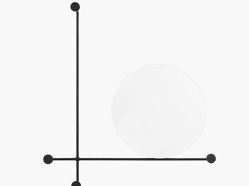 Nordal - Spejl cirkel w/knagerækker, lille