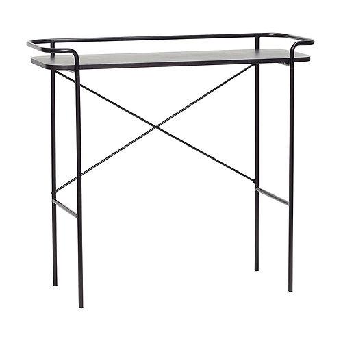 Hübsch - Metal Konsolbord med kant. Sort
