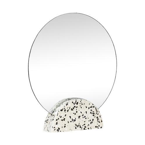 Hübsch - Spejl, rund, terazzo