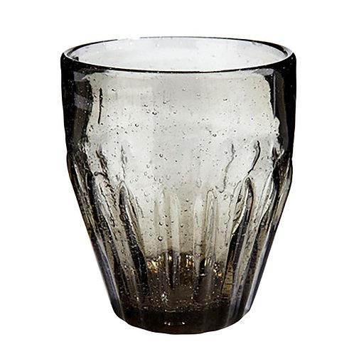 Hübsch - Drikkeglas med riller, grå