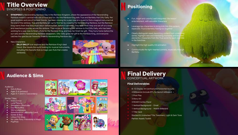 true rainbow rescue - creative brief from netflix