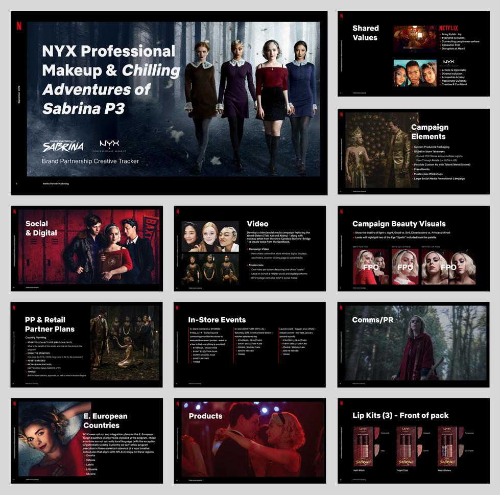 Netflix & NYX partnership deck excerpts