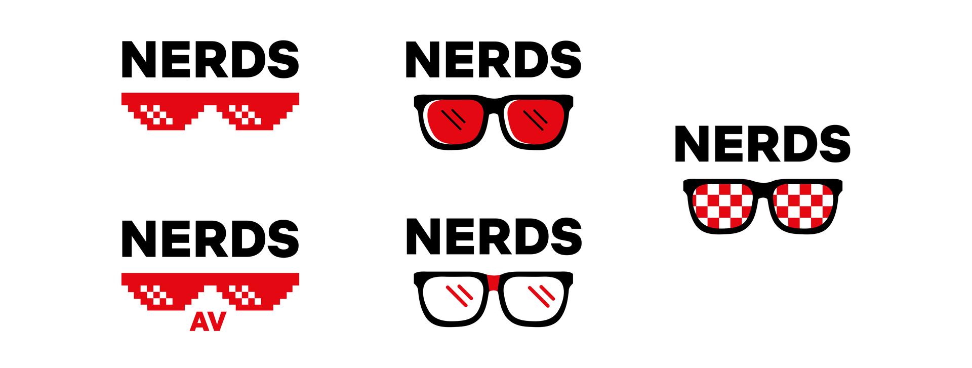 nerd glasses concept