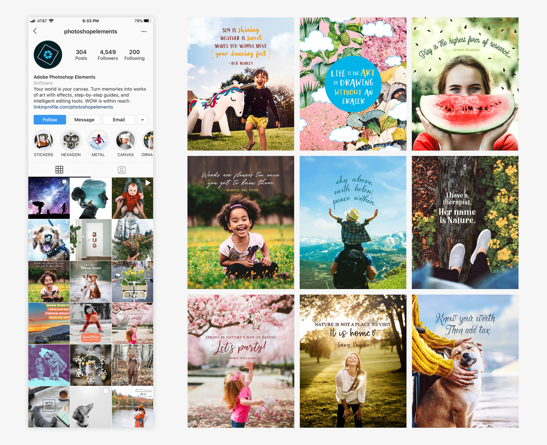 Instagram Feed + Quote Graphics