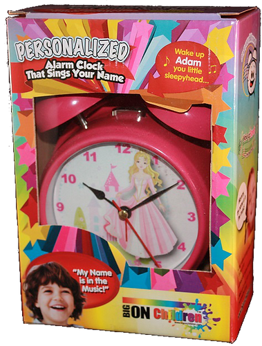 personalised clock for children