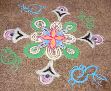 Mandala For Eva (with turtle and rabbit)