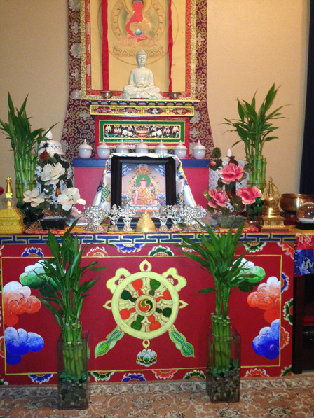 Altar Tashi Nyima with Accoutrements