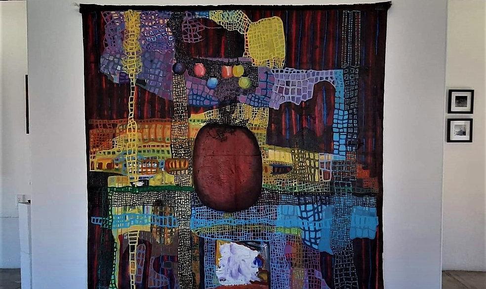 Big P.T.S.D  6 foot square, acrylic on u