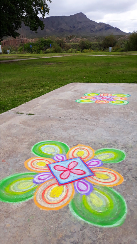 2 chalk drawings for the video for the Exo Eso performance at the Artist Abbey