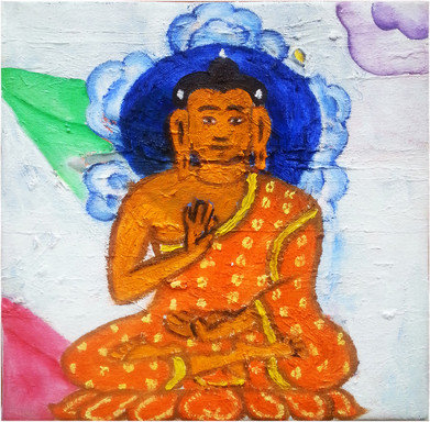 Orange Buddha