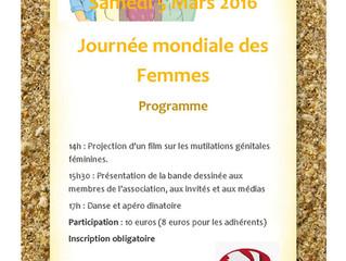 Journée internationale de la Femme à ASIFA - 5 mars 2016