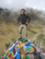 Randonneur sur une montagne