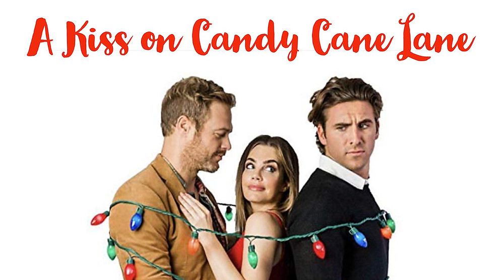 Movie poster for A Kiss on Candy Cane Lane.