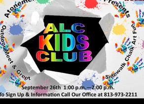 Sept 2020 ALC Kids Club !