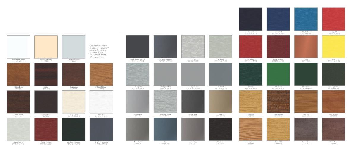 coloris portail rail
