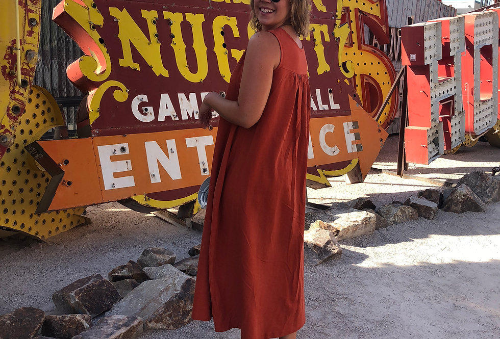 Parachute Dress in Terracotta