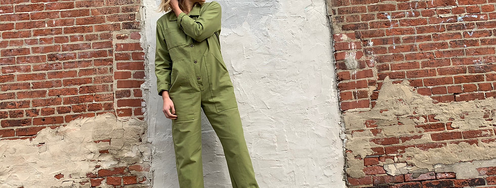 Bud Coveralls in Olive