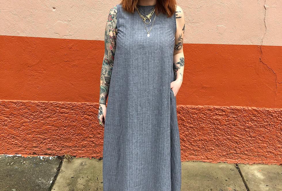 Parachute Dress in Spotty Gray