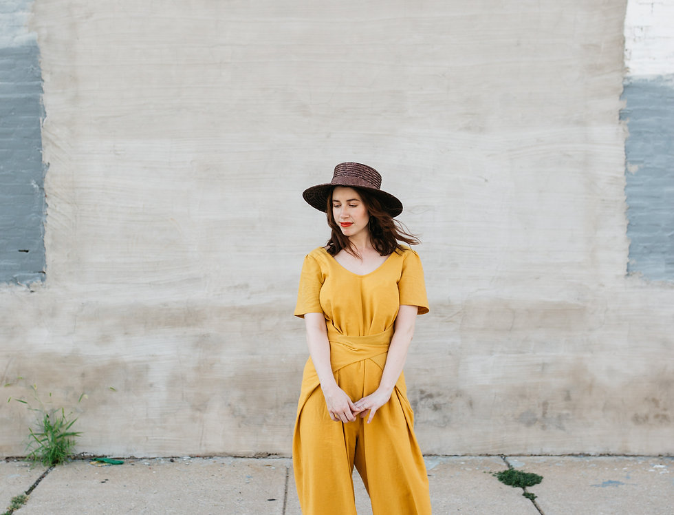 Mirage Jumpsuit in Sol with Sleeves