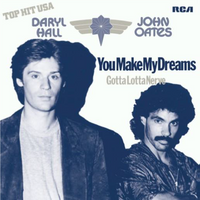 """Hall & Oates  - You Make My Dreams Come True/Gotta Lotta Nerve (PURPLE 7"""")"""