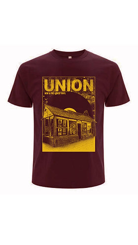 UNION T-SHIRT BURGUNDY/YELLOW   (SMALL)