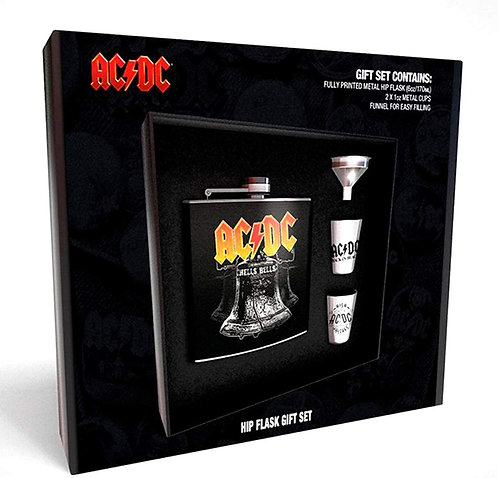 ACDC Hip Flask + Metal Cups