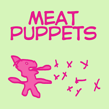"""Meat Puppets  - Meat Puppets (PINK GREEN SWIRL 10"""" VINYL)"""