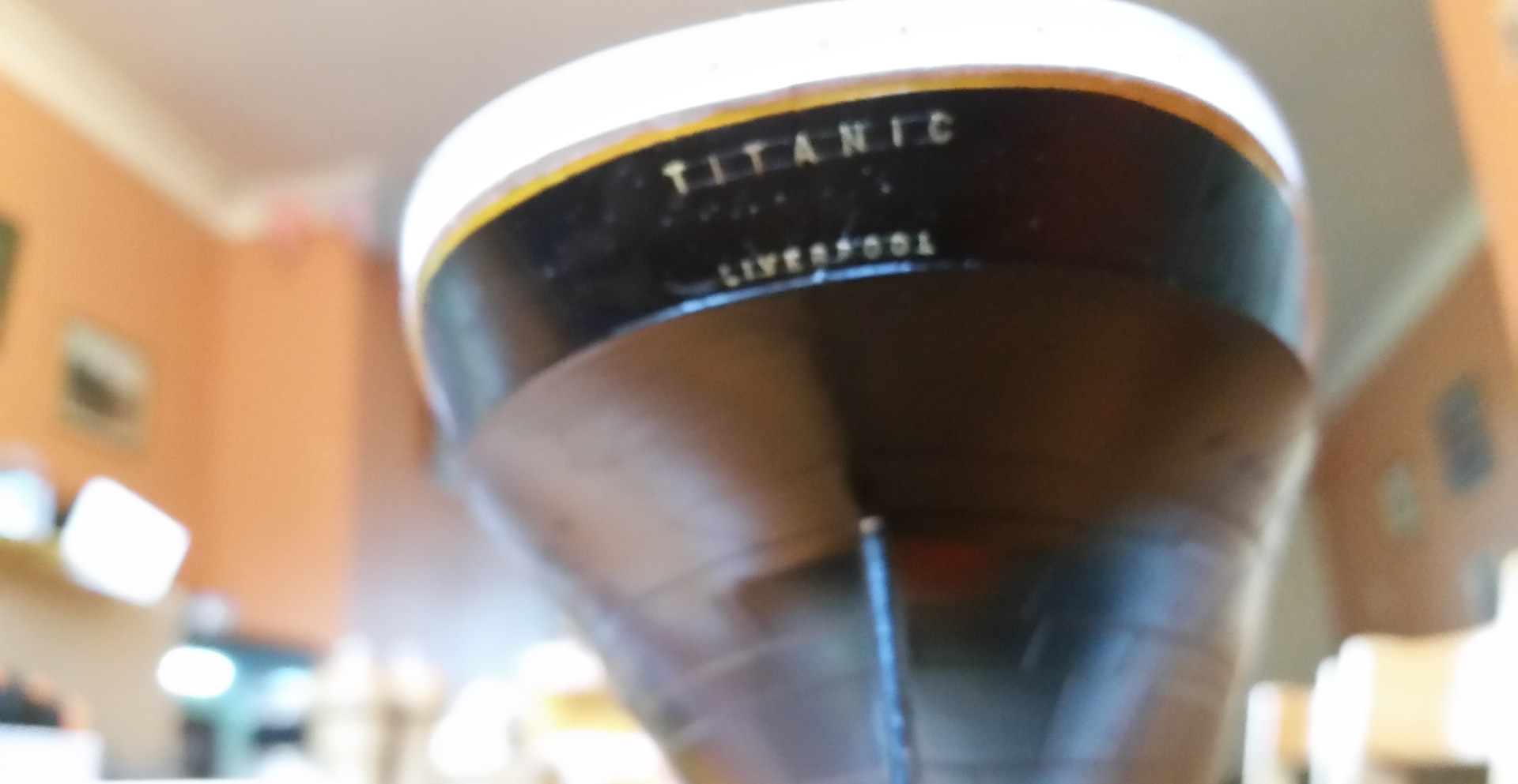 The stern of the Titanic