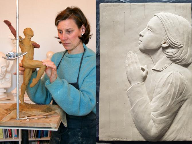Delphine Lafontaine, sculpteur: «Tout me ramène à Dieu»