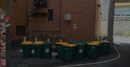 We recommend deploying carts to collect and store your waste stream.  Qube Waste Solutions will drive by in a pick-up truck and tip the bins into The Qube Trailer.