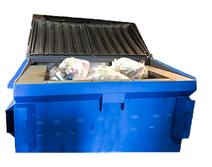 miniQube Container Compactor front view loaded