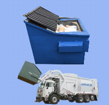 Open top containers commonly found behind commercial businesses require servicing several days a week. The Qube Trailer Compactor can reduce this servicing down to once per week.
