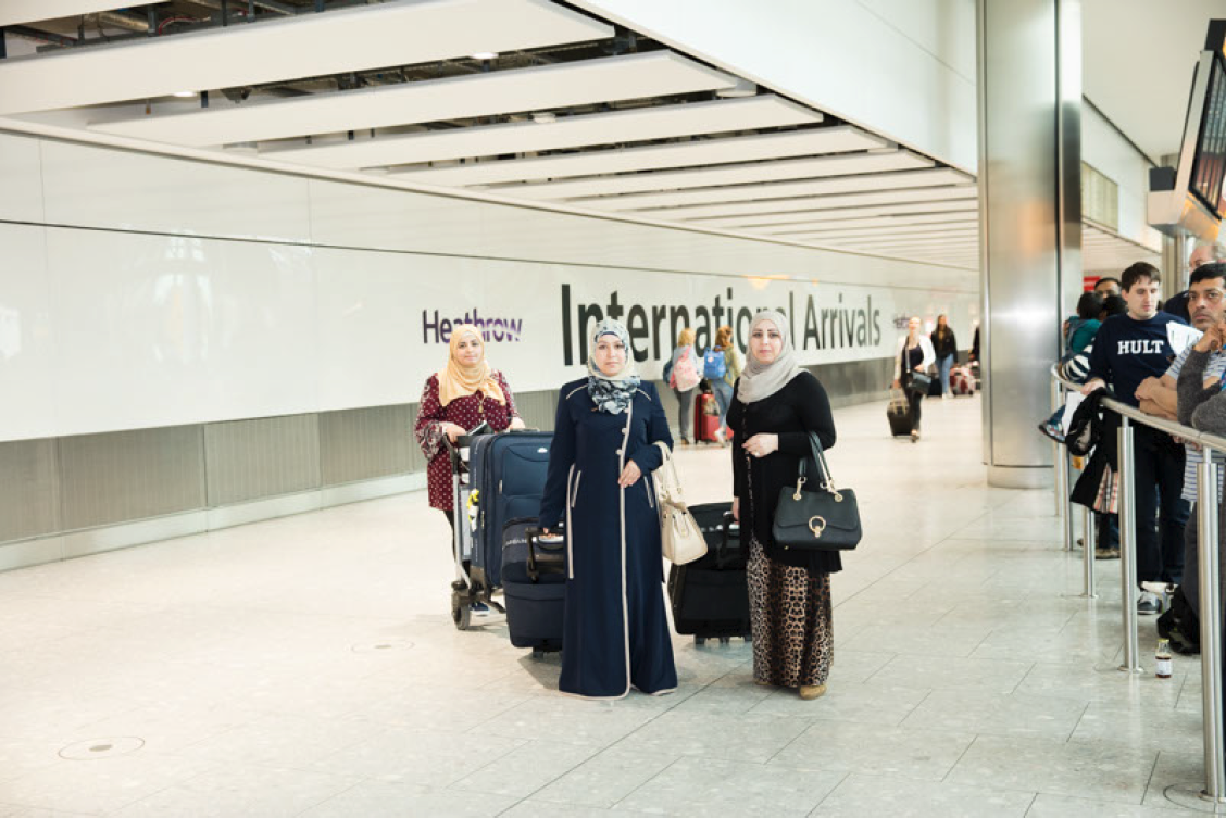 The Cast arriving in London