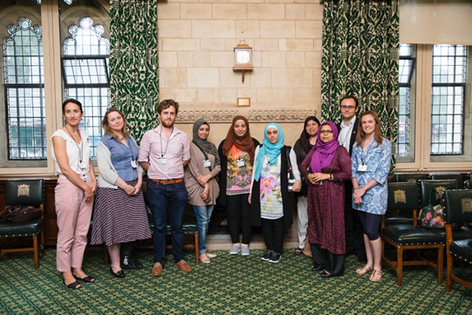 Cast and producers at the House Of Commons