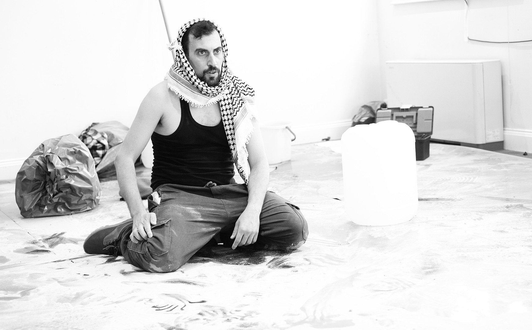 Ahmed Tobasi in rehearsal