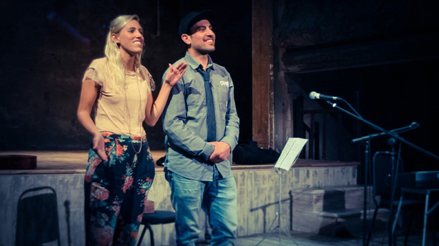 Zoe Lafferty and Ahmed Tobasi lead a talk at Wiltons Music Hall
