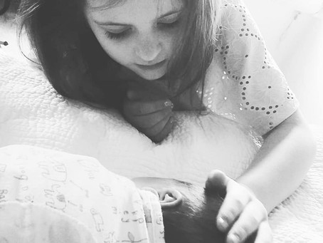 When she holds him, there's nothing else in the world.