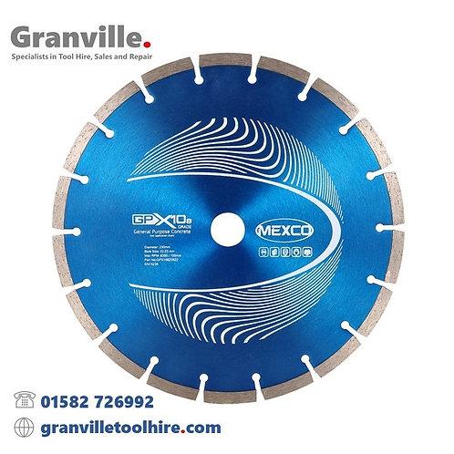 Mexco GPX10-8 General Purpose 230mm Diamond Blade