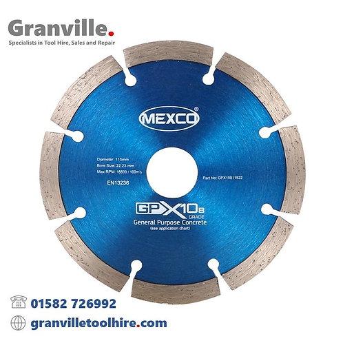 Mexco GPX10-8 General Purpose 115mm Diamond Blade