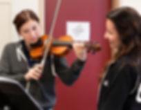 ヴァイオリンの練習
