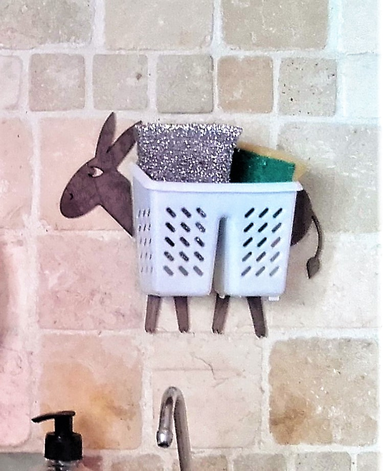 Donkey with a basket for various use