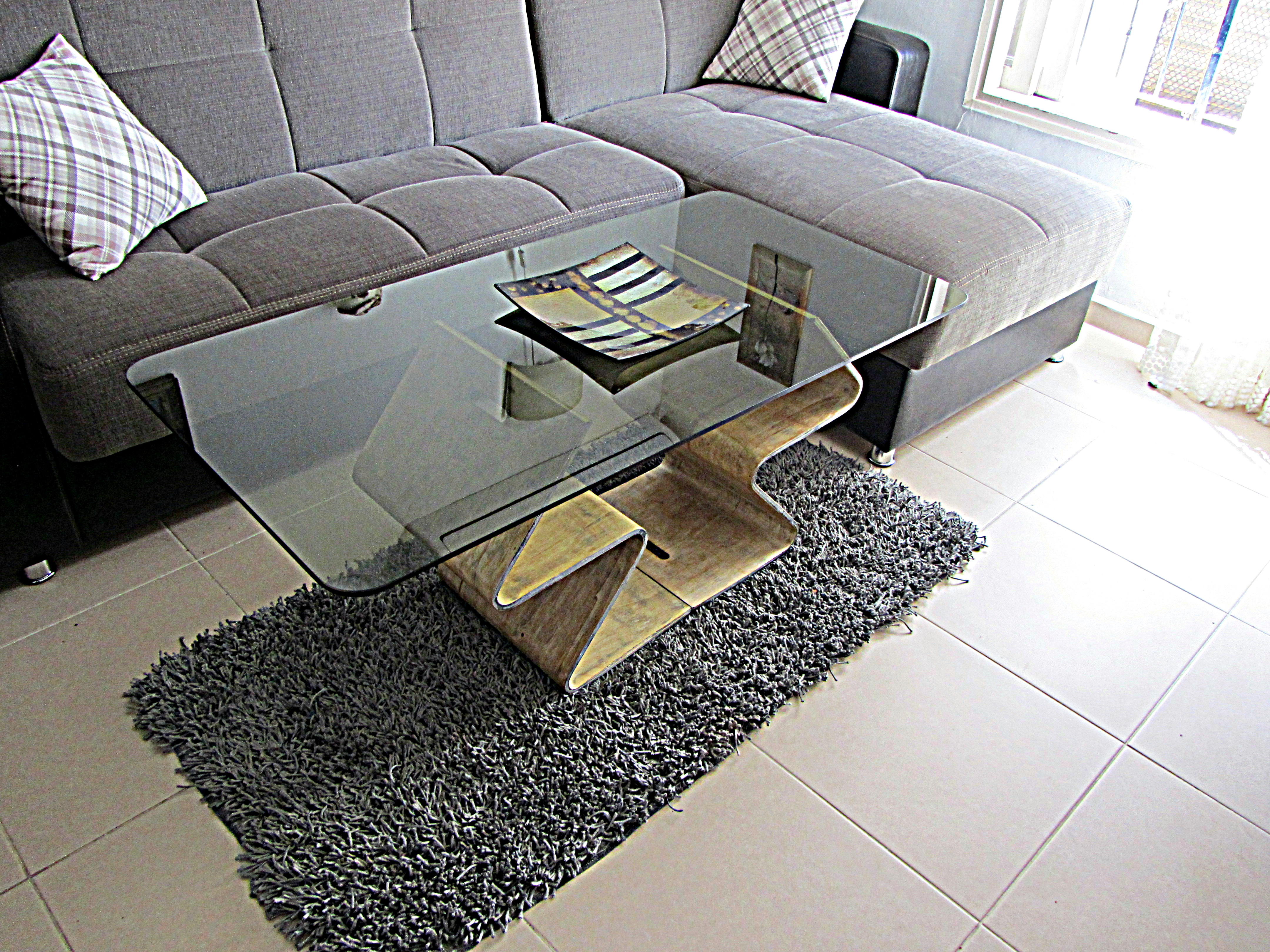 Journal table made of plywood